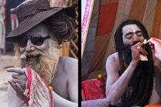 """These """"naga babas"""" are a type of sadhu, a Hindu ascetic monk. Sadhus are often found smoking chillum, a potent concoction of charras, or marijuana."""