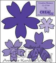 Crealies Creative Flowers no. 09 (stans - die - Stanzschablone - pochoir) http://www.crealies.nl
