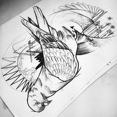 #stadt #taube #pigion #tattoo #sketch #berlin #istanbul #dövme