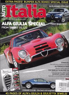 Auto Italia magazine Alfa Giulia special Abarth Fiat Lamborghini Lancia Maserati
