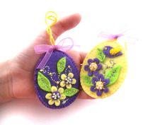 Easter ornaments Felt Easter eggs