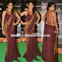 shriya_saran_in_saree_gown_iifa_2015