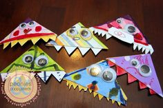 monster bookmark tutorial | Peonies and Poppyseeds