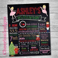 Christmas Nutcracker Birthday Chalkboard by CheeriozDezigns