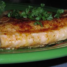 baked seasoned salmon..