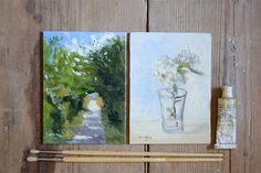 Looking for a touch of warmth for your home? Check out this Set of Landscape & Still Life Flower Oil by BarraganPaintings. FREE shipping thru Dec. 2014. Use code: PINTEREST14 at checkout.