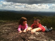 These kids have too much fun! Views from Mt Tinbeerwah. Sunny Coast QLD.