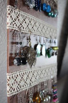 #easy dorm decor for earring lovers like me <3