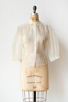 vintage 1950s blouse | 50s top | Piaffe in Place Blouse