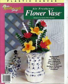 Air Freshener Flower Vase Plastic Canvas The Needlecraft Shop 400228 by grammysyarngarden on Etsy
