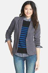Olivia Moon Ruched Sleeve Jacket (Charcoal)