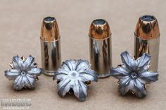 Six Reasons Why Modern Defensive Ammo is Better Than Ever: Federal Premium HST 9mm, .40 S&W and .45 ACP loads pictured with fully expanded bullets.