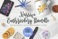 Massive Embroidery Bundle by miumiu on @creativemarket