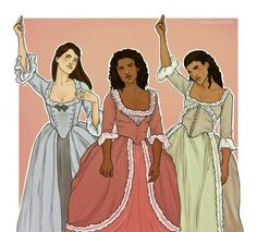 "cargsdoodles: "" you want a revolution i want a revelation! Hamilton Broadway, Hamilton Musical, Theatre Nerds, Musical Theatre, Theater, Eliza Schuyler, Jasmine Cephas Jones, Anime Girl Dress, Hamilton Fanart"