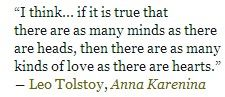 Quote from Tolstoj's Anna Karenina