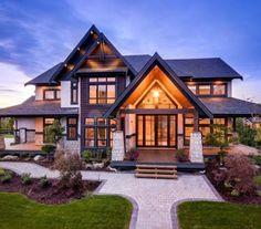 60 Most Popular Modern Dream House Exterior Design Ideas - Ideaboz Modern Exterior House Designs, Modern Farmhouse Exterior, Dream House Exterior, Dream House Plans, Modern House Design, Exterior Design, Farmhouse Decor, Cheap Houses, Luxury Homes Dream Houses