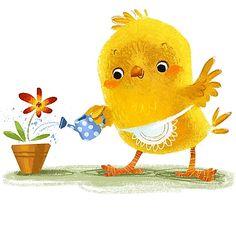 Chicken Illustration, Cute Animal Illustration, Illustration Art, Black Chickens, Cute Chickens, Funny Animal Comics, Kids Zoo, Chicken Painting, Baby Room Art