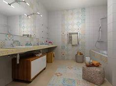 плитка пэчворк в интерьере ванной: 19 тыс изображений найдено в Яндекс.Картинках
