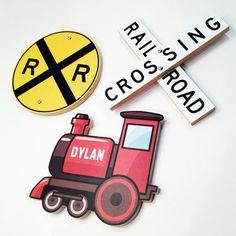 Hey, I found this really awesome Etsy listing at https://www.etsy.com/listing/159351825/railroad-train-decor-set-railroad