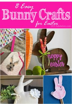 Whether you need ideas for new decorations or you need a rainy day activity for the kiddos you will love these 8 easy bunny crafts.