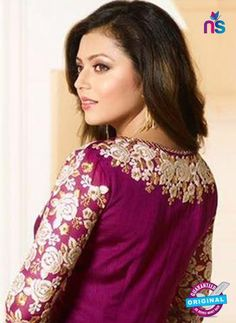LT 91008 Purple Georgette Exclusive Function Wear Designer Suit