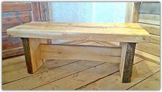 Wooden Bench/ Rustic Bench/Coffee Table by ManaMaaksla on Etsy