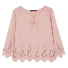 Blouse en coton brodé Comptoir Des Cotonniers ($99) ❤ liked on Polyvore featuring tops, blouses, shirts, blusa, верх, shirt top, pink shirt, comptoir des cotonniers, shirt blouse and pink top