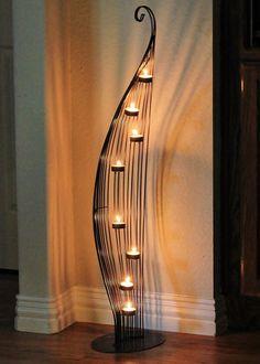 Unusual Mid Century Whimsical Leaf Shaped Tea Light Candle Holder ️LO