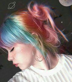 Indie Scene Hair Grunge Hair Colors - Indie scene hair grunge – indie-szene hair grunge – scène indie cheveux g - Hair Color Blue, Hair Dye Colors, Cool Hair Color, Green Hair, Blue Hair, Bright Colored Hair, Colored Girls, Indie Scene Hair, Dye My Hair