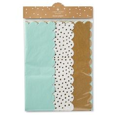 Sugar Paper Mint, White, and Gold Tissue Paper