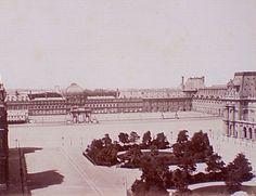 photo du chateau des tuileries a paris, images prise du louvre, 19e siècle