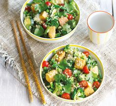 This low calorie salad is full of fibre and packs in a whopping 4 of your 5-a-day!