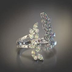 New in: Veto Petal Ring Collection. Available in Yellow and White Gold, Diamonds, Sapphires, Rubies and Emeralds. Diamond Jewelry, Gold Jewelry, Jewelry Rings, Jewelery, Vintage Jewellery, Diamond Pendant, Diamond Rings, Antique Jewelry, Fashion Rings