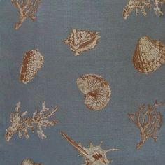 Nassau Sea Tropical Shells Jacquard Fabric Tapestry Fabric, Furniture Upholstery, Jacquard Fabric, Nassau, Fabric Online, Shells, Weaving, Tropical, Sea