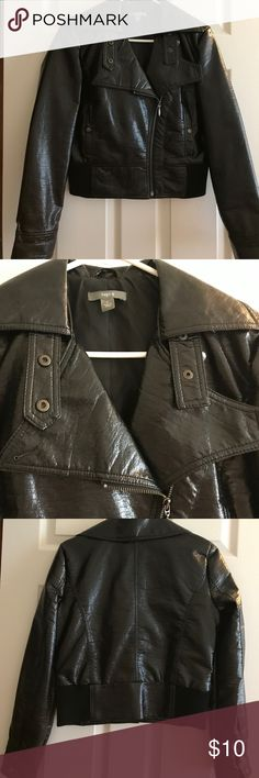 Pleather Jacket Pleather  jacket. Great condition.  Looks great with jeans and boots. Apt. 9 Jackets & Coats Blazers