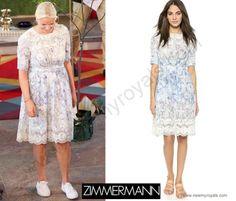 Crown Princess Mette-Marit wore a Zimmermann Dress