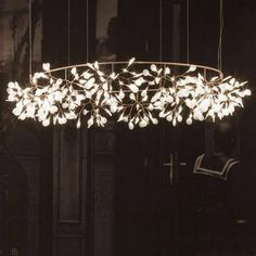 (798.00$)  Watch more here - http://ai8zw.worlditems.win/all/product.php?id=32718435748 - Modern circle tree branch led pendant light creative personality firefly Dia.210cm Nordic living room restaurant hall lobby lamp