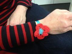 Bracelet crochet.