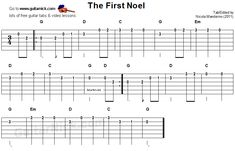 The First Noel -  guitar tab