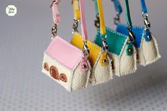 Lati Yellow/ Puki Fee  Handmade  Mini House Bag by YlangGarden, $15.00 these cute kawaii ooak design bags are for dolls but alice is inspired from the time she got stuck in a little cottage because of her biscuit addiction to want a bag just like this for those days when quirky,kooky,but super cute lolita and whimsical style is all that will do,so she is going to make her own little house bag,if it works out I may start selling them too..great girlie ,vintage kitsch accsessory