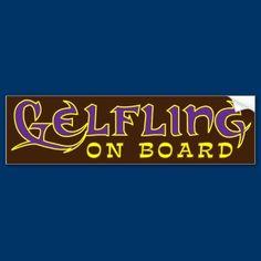 Gelfling on Board Bumper Stickers