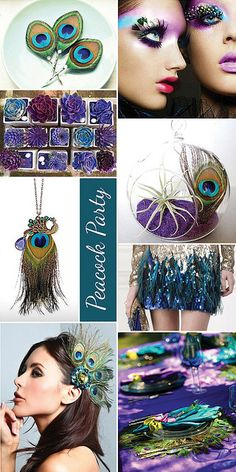 Peacock Party Inspiration Board by CieraHolzenthal, via Flickr