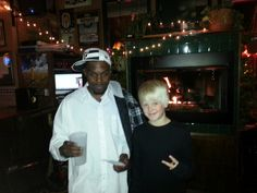 Hip hop artist Deviace with Carson Leuders at the Iron Horse in Spokane Valley, WA in 2012.