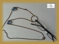 #Brillenkette Brillenring #nachtleuchtend bronze von bigXel-Naturschmuck und Wollkunst auf DaWanda.com