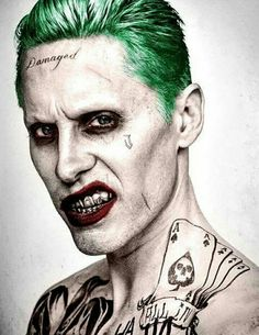 Imagen de joker, suicide squad, and jared leto --Be your own Whyld Girl with a wicked tee today! http://whyldgirl.com/tshirts