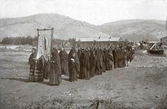 Funeral Procession Mora, New Mexico - ca 1895 Photo By: Tom Walton Negative #014757
