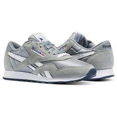 44102911af74 Classic Nylon Platinum   Blue 36088 Reebok