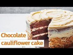 A decadent and fudgy chocolate cake with a secret ingredient to make it especially moist – cauliflower purée!