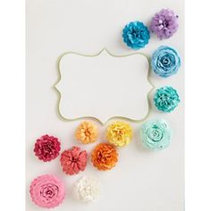 #DIY #Flowers..would be beautiful garland glued on ribbon or fishing wire, so they would look like they were floating.