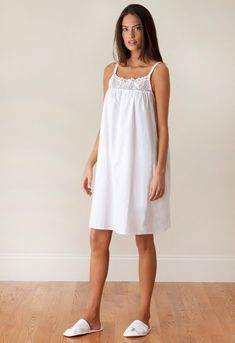 You can never have too many cotton nighties! Get the Jenn ladies nightgown today for you, a friend, or your mom :) Shop now Cotton Nighties, Cotton Dresses, Night Suit, Night Gown, Pretty Lingerie, Vintage Lingerie, Pijamas Women, Nightgown Pattern, Nightgowns For Women